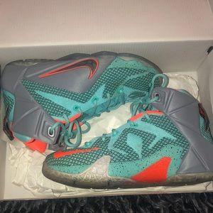 Turquoise Lebron James Shoes